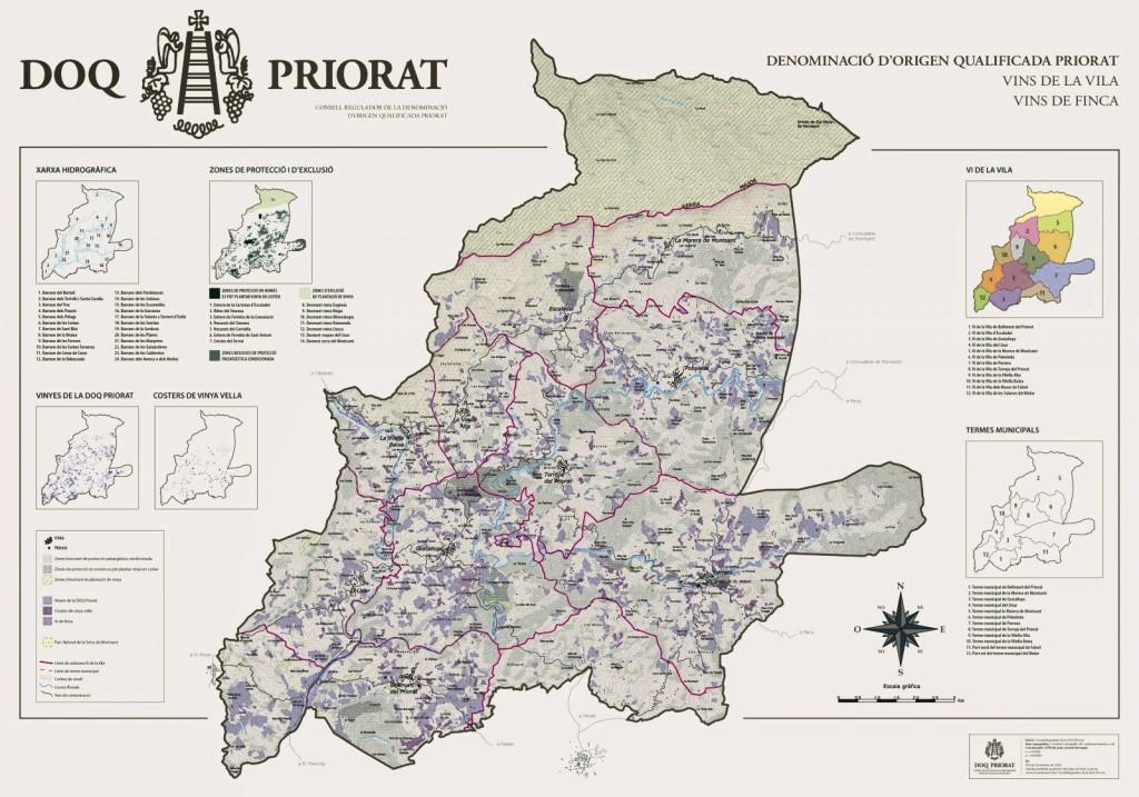 Mapa DOQ Priorat
